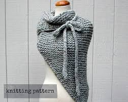Knit Shawl Pattern Mesmerizing Shawl Knit Pattern Etsy
