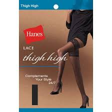 Hanes Thigh Highs Size Chart Lace 24 7 Thigh High Style 71026