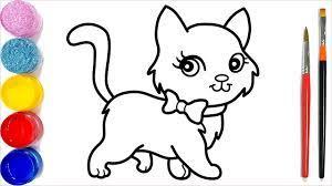 35+ Tranh tô màu con mèo đẹp, dễ thương cho bé tập tô