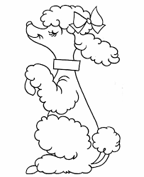 Small Picture A Cute Poodle on Action Coloring Page Free Printable Coloring