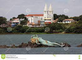 Mermaid And Skyline Of Petrolina And Juazeiro In Brazil Editorial Image -  Image of skyline, brazil: 82199525