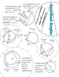 26c91d5679fdb92587abd4836a842c19 inscribed angles geometry 75 best images about geometry on pinterest special right on angles in polygons worksheet answers
