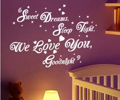 Quotes About Sweet Dreams And Goodnight Best Of Sweet Dreams Goodnight Quote Wall Sticker Art Decal