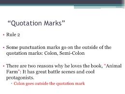 Punctuation Quotation Marks
