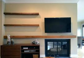 under wall shelf design creative floating stand tv wood mount shelves glass above below bracket component cable box