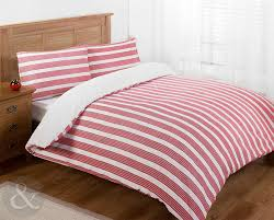 nautical bedding luxury poly cotton duvet cover set striped bed quilt cover sets red claret burdy white grey single duvet cover co uk