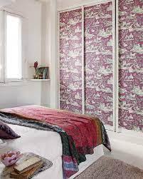 wallpaper for mirrored closet doors on