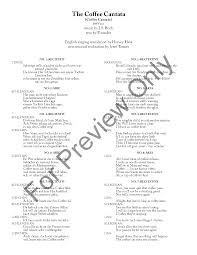 You might know that bach wrote a lot of sacred cantatas to be used in church services; The Coffee Cantata Vocal Trio Vocal Score N J W Pepper Sheet Music