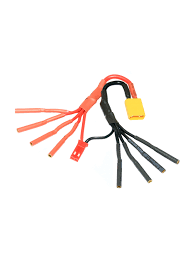 xt esc mm quadcopter power breakout cable jst flying tech xt30 to 4 x 2mm female bullet esc power breakout cable ideal for 250 racing