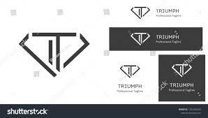 Simplistic Logo Design Simplistic Logo Design Featuring Letter T Stock Vector