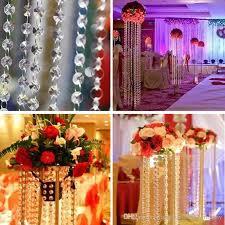 3 3 ft crystal clear acryli3 3 feec beads chain acrylic crystal garland hanging diamond chandelier