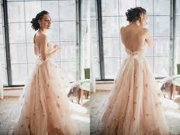 a romantic touch of color 25 sweet blush wedding gowns praise