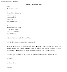 Service Cancellation Business Contract Letter Agreement Form