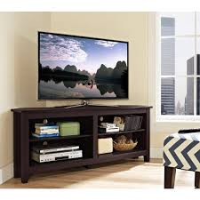 corner media storage console for tv s up to 60 multiple colors com