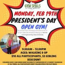 president s day open gym gym skills