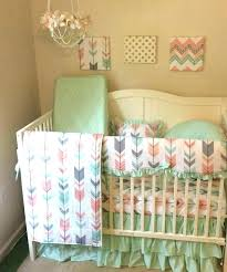 mint crib bedding peach colored crib bedding mint crib sheet peach colored baby bedding mint baby