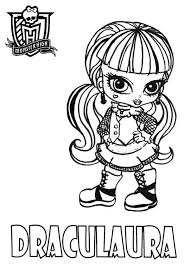 Small Picture Draculaura From Monster High Coloring Page Color Luna