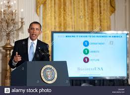 United States President Barack Obama Gestures Towards A