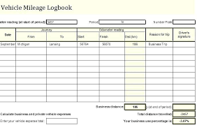 Mileage Book Travel Log Book Template Excel Vehicle Mileage Business