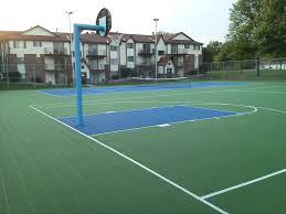 Backyards Enchanting Backyard Tennis Court Cost Cost To Install Backyard Tennis Court Cost