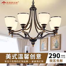 get ations american country wrought iron chandelier creative bedroom living room cozy restaurant european past retro glass shade