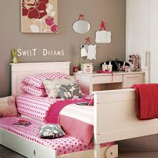 Pink And White Girls Bedroom Bedroom Girls Bedroom Cozy Bedroom With White Bed Frameed With