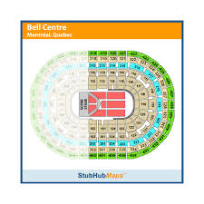 Montreal Canadiens Bell Center Seating Chart Bell Centre Seating Map Rows 2019