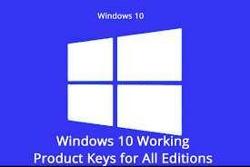 Windows 10 Full Version Activation Product Key 2018 100 Working