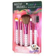 hot pink makeup brushes. color fever makeup brush set - hot pink brushes
