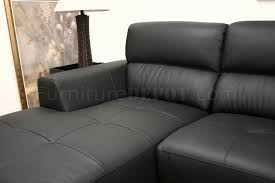 black leather contemporary l shaped