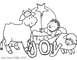 Christmas Nativity Coloring Pages Printable With Preschool Kids Free