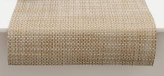 chilewich  table  placemats  runners  basketweave  whitegold