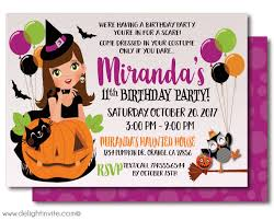 costume party invites kid friendly halloween birthday invitations non scary witch