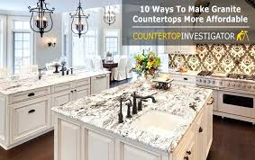 ways to make granite more affordable countertop options s