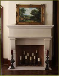 Rustic Fau Fireplace Candle Display Livin La Vida Lo Candles - Tikspor