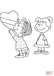 Charlie Brown Valentine coloring page   Free Printable Coloring Pages
