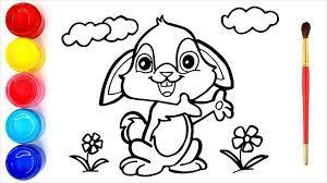 40+ Tranh tô màu con thỏ dễ thương nhất cho bé tập tô