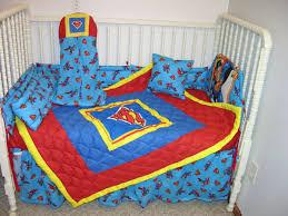 new crib nursery bedding set made w superman fabric on popscreen