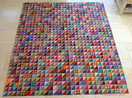 Fabadashery: Half Square Triangle (HST) Scrappy Quilt & Scrappy Triangle Quilt Adamdwight.com