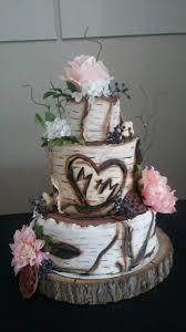 Rustic Birch Bark Wedding Cake Fondant Gumpaste My Cake Portfolio