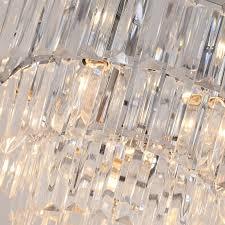 Beleuchtung Homcom Crystal Light Ceiling Lamp Chandelier