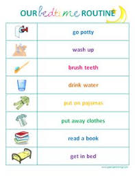 Bedtime Chart Printable Free Evening Routine Cliparts Download Free Clip Art Free
