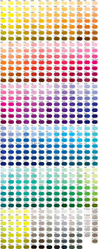 Pantone Colour Chart Printed Promotional Items