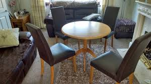 round kitchen table and 4 chairs lowered even further in leyland lancashire gumtree