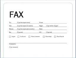 Printable Fax Cover Sheet Microsoft Word – Printable Pages