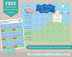 printable peppa pig potty training chart punch cards jpg printable peppa pig potty training chart punch cards jpg files instant