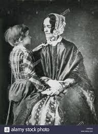 First Lady Jane Pierce with Son Benjamin Stock Photo - Alamy