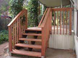 wooden outdoor stair railing