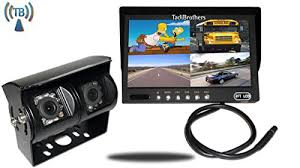 tadibrothers 7 inch split monitor 2 wireless mounted rv see the whole world behind you in rich colors it is also an lcd monitor so it is very light as well as thin in addition it has four video inputs so