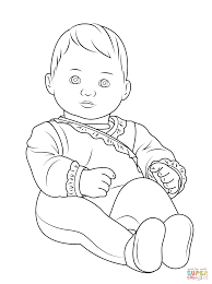 Small Picture Stylish And Peaceful Baby Printable Coloring Pages Squinkies Baby
